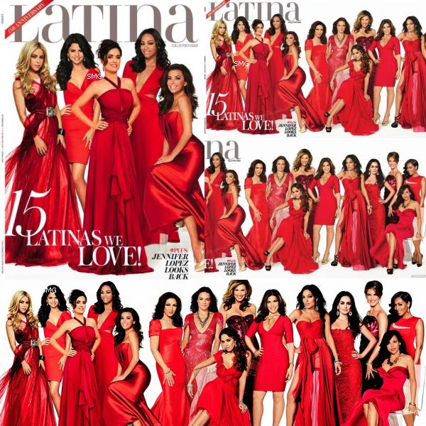 ". Selena fait la première page du magazine ""Latina"" en compagnie de Salma Hayek, Shakira, Eva Longoria, Zoe Saldana, Michelle Rodriguez ou encore Jessica Alba...    (voir la vidéo)   ."