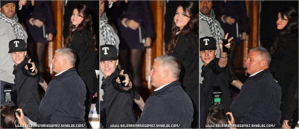 . Selena a été vue arrivant à son hôtel à Belfast en compagnie de Justin Bieber au Merchant Hotel le 5 novembre.  .
