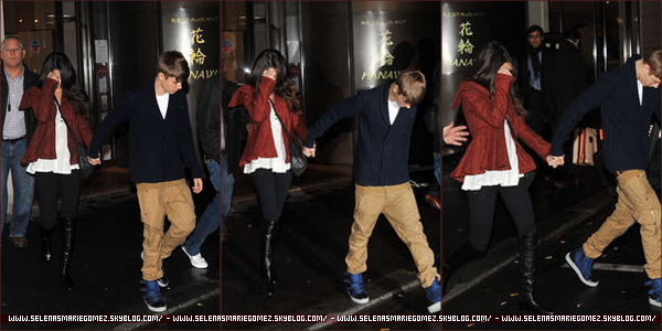. Selena et Justin quittant un plateau télévisé à Madrid, le 11 novembre.  .