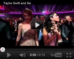 ". Selena, Justin et leurs ami(e)s aux ""American Music Awards"" le 20 novembre.  ."