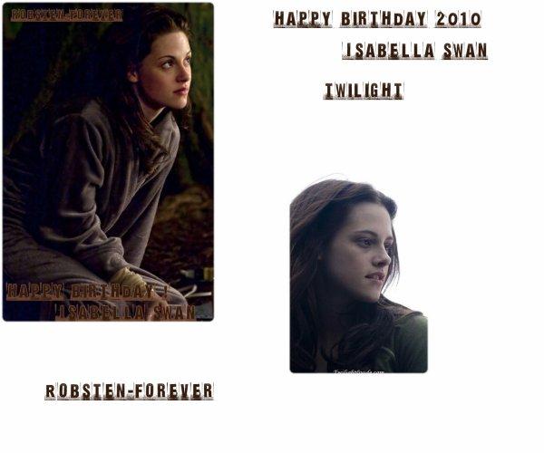 Happy Birthday Isabella Swan !