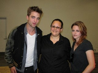Kristen and Rob with a Fan !