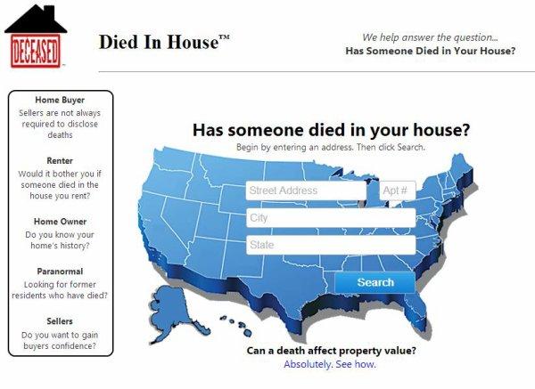 Diedinhouse : Le site web qui fait frissonner les américains