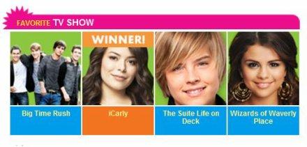 Dylan gagnant des Kids Choice Adwards ( favorite TV Actor)