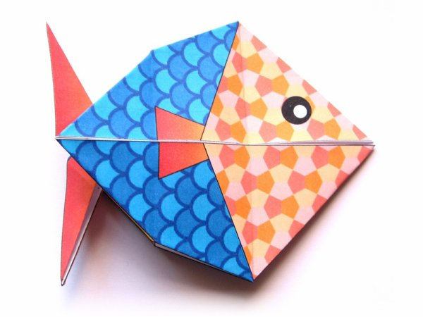 1er Avril  -  Poisson en origami
