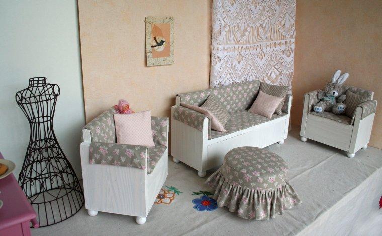 La salon en tissu fleuri