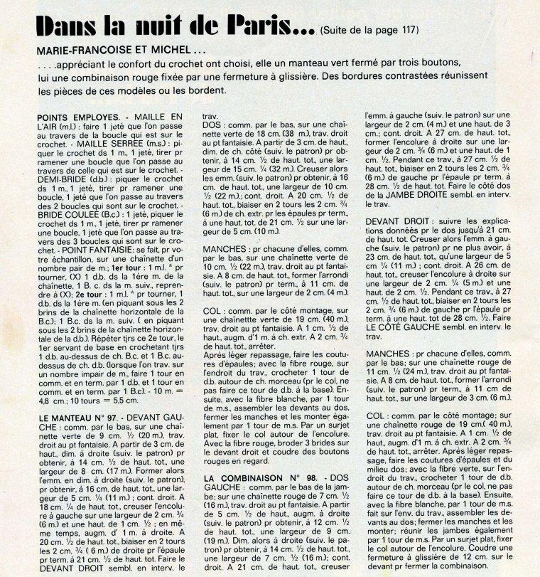 Tricots de Janvier 1977