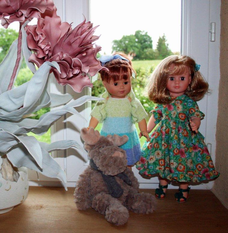 Agathe et Fanny en visite