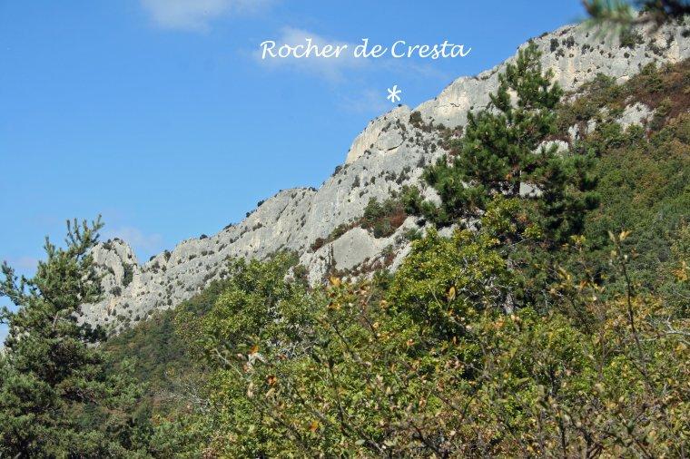 Le rocher de Cresta - Drôme