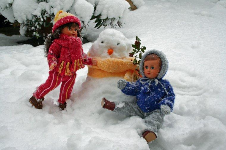 Les joies de la neige pour de vrai, pour de faux ...