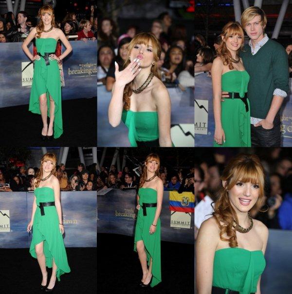 """12/11/2012: Bella était à l'avant première de """"Twilight, Révélation 2ème partie"""" à Los Angeles."""
