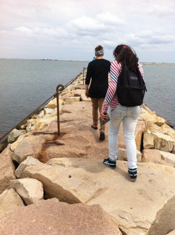 Sur le bord de la mer aux U.S.A. Avec des copines !!