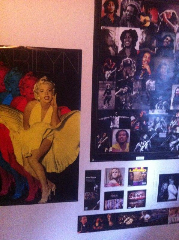 Mon nouveau mur ( BOB MARLEY ft. MARILYN MONROE !! <33 )