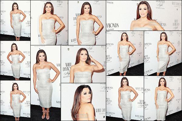 * 05/04/16 : Eva s'est rendue à la soirée des 25 ans de  White Diamond   se déroulant dans la ville de    - New-York.   Eva a été récompensée pour son implication dans diverses oeuvres de charité en remportant le prix VIP, nommé Rioja Prestigious. TOP    ! *