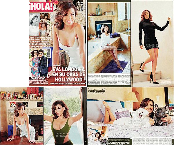 *  Eva         fait la couverture du magazine   HOLA! Mexico  - découvrez à présent quelques photos de ce  photoshoot.         *