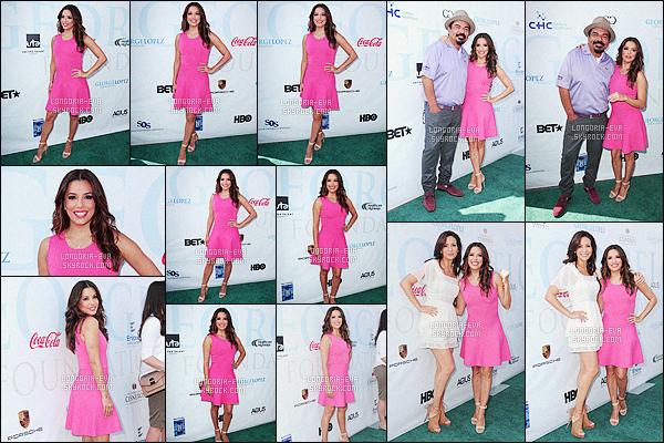 * 02/05/16 : Eva  à l'event     9th annual George Lopez Celebrity Golf Classic    qui a eu lieu dans  - Los Angeles.   Eva reste fidèle à son look glamour et opte pour une jolie robe rose ainsi qu'un maquillage loin de l'extravagance ... C'est un beau TOP    ! *