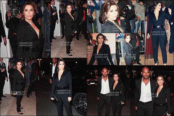 * 12/05/16 : Eva  a été aperçu lors de son arrivé pour la fête organisé par    Vanity Fair     qui est situé dans   Cannes.   Eva porte une combinaison noire qui a un look très masculin/féminin est rempli de classe qui lui va bien - c'est donc un très jolie TOP    ! *