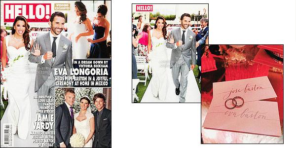 *  Découvrez dès a présent les photos de mariage d'Eva avec ses amis ainsi que la couverture du magazine     HELLO!              *