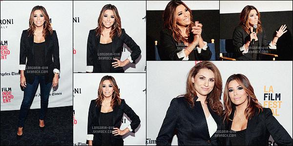 * 07/06/16 : Eva  était présente lors du      ESPN Shorts    qui s'est déroulé pendant le festival de film de   Los Angeles.   Eva porte une tenue très sympa, très simple mais quand même très jolie et le jean lui va très bien l'ensemble est classe - un très jolie  TOP    ! *