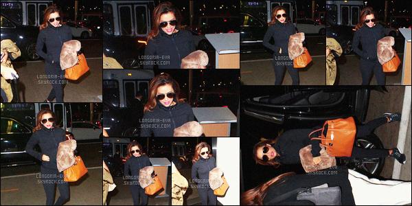 * 13/07/16 : Eva  a été aperçu se rendant à l'aéroport      LAX   pour un petit voyage, qui se situe dans -  Los Angeles.   Eva est toute de noir pour son confort donc on peut comprendre elle n'a d'ailleurs pas oublié son coussin de voyage fêtiche -  un TOP  !   *