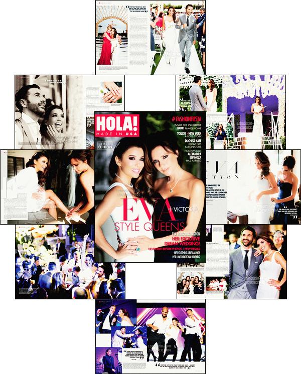 *  Eva         fait la couverture du magazine   HOLA! Made USA  et également plusieurs pages - découvrez son mariage.         *