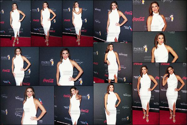 * 20/08/16 : Eva était présente lors du  El Sueno de Esperanza Celebration a l'hotel Venetian dans Las Vegas.   Eva a une tenue blanche juste sublime et aussi un maquillage juste parfait qui est magnifique sur elle - c'est vraiment un énorme TOP    ! *