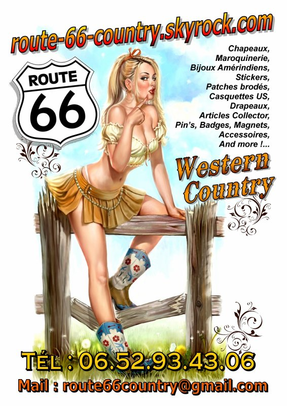 ROUTE 66 ★ Country★ Western ★ Bikers ★