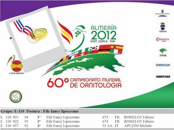 MONDIAL 2012 ALMERIA (ESPAGNE)