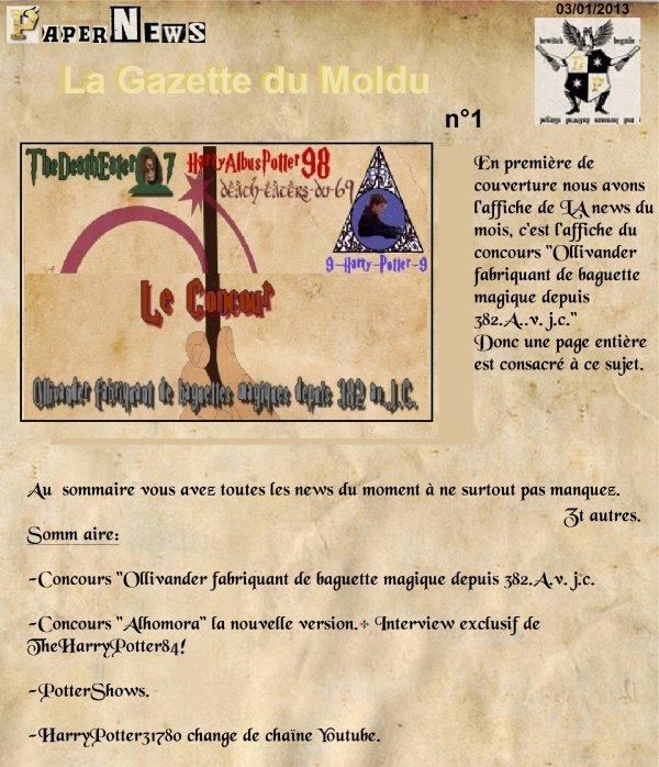 La Gazette du Moldu n°1