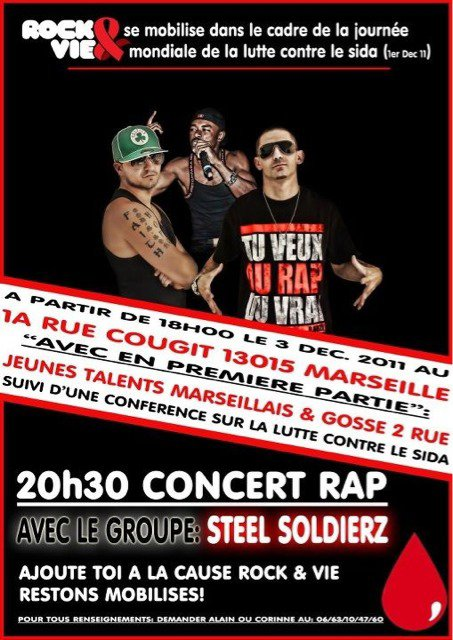 CONCERT A MARSEILLE CE WEEK END !!!!