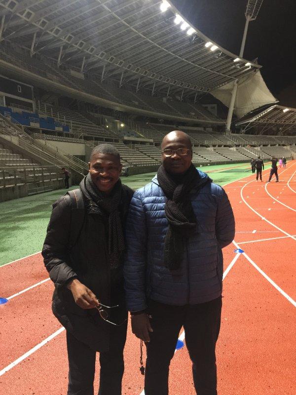 Comme d'habitude, Ange Sama passe toujours au stade Charlety où j'entraîne pour me faire un petit coucou!
