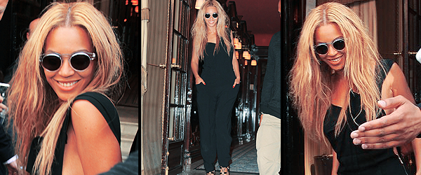23/04/2011 - Beyonce sortant du restaurant Costes à Paris