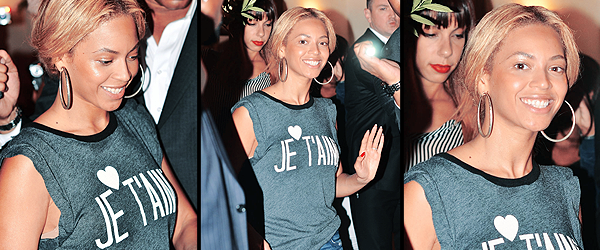 24/04/2011 - Beyonce quittant son hôtel a Paris
