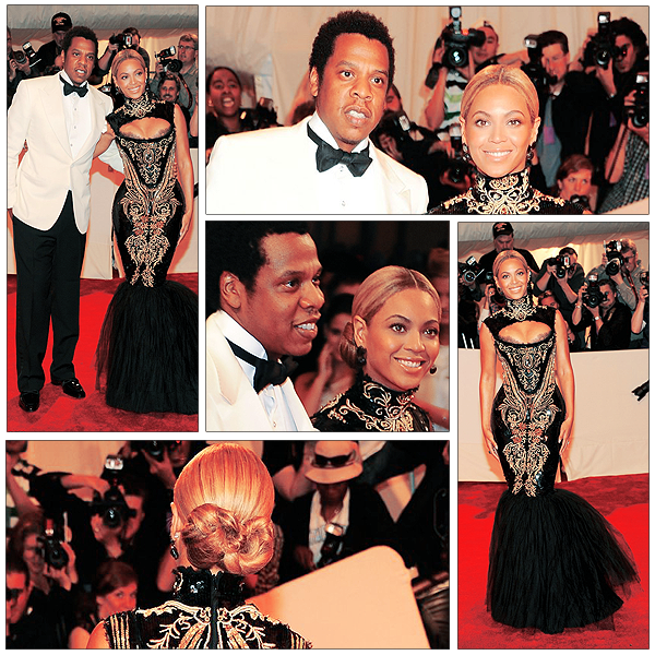 02/05/2011 - Beyonce & Jay z au Met Ball Costume Institute Gala 2011 à New-York - Beyonce est sublime dans cette robe !!!