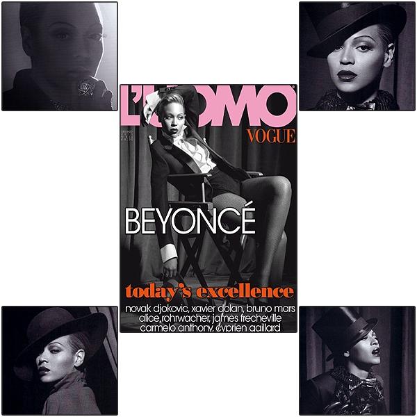 16/06/2011 - Beyoncé en couverture pour le magazine masculin italien L'Uomo de Vogue !!!