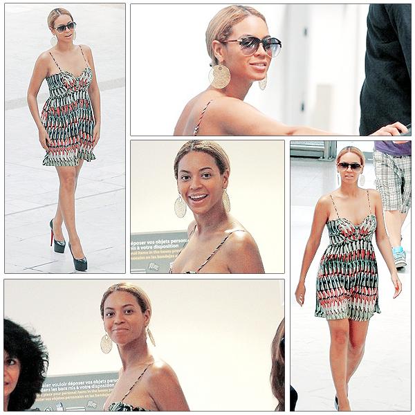 14/06/2011 - Beyonce a l' aéroport de Nice !!!