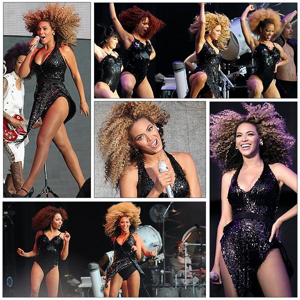 09/07/2011 - Beyonce nous fais une magnifique performance au T in the park dans une sublime robe !!!