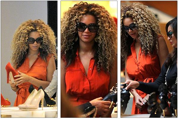 11/07/2011 - Shopping pour Beyonce et Tina sa maman à Londres