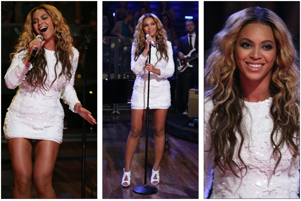 28/07/2011 - Beyonce chante best thing i never had sur lat night !!!