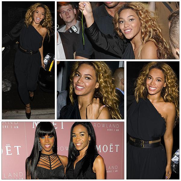 """26/07/2011 - A l' occasion de la sortie su nouvel album de Kelly rowland intitulé """" Here I Am """" une soirée a était orgasinée et bien sur Beyonce et michelle sont venues la soutenir ..."""