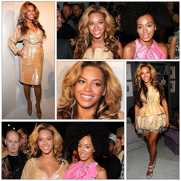 13/09/2011 - Beyonce et Solange au Fashion Week à New-York !