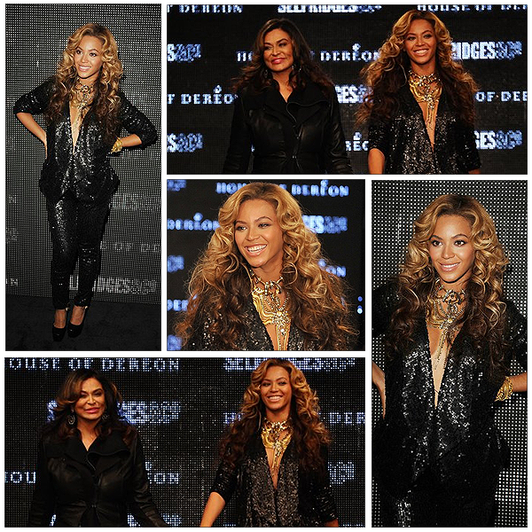 17/09/2011 - Beyonce et sa mère tina au fashion week !