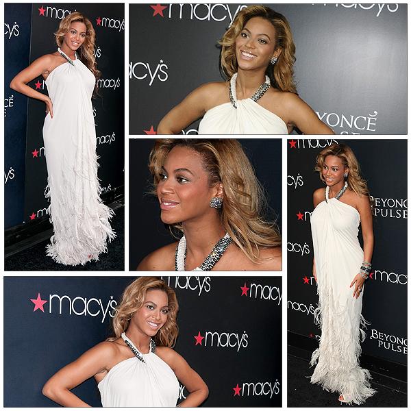22/09/2011 - Beyonce se rend au magasin Macy pour la sortie de son nouveau parfum PULSE ...