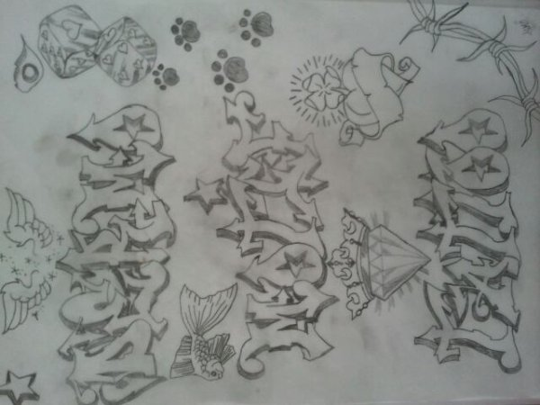 Dessin tag tattoo