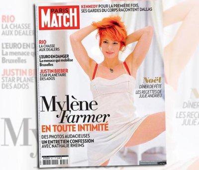 Line Renaud - Mylène Farmer parle de sa collaboration avec Line Renaud dans Paris Match
