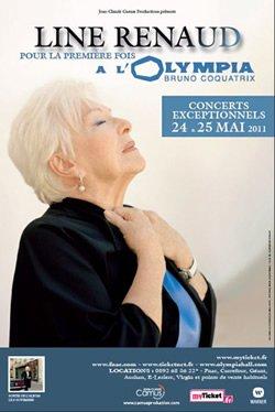 Line Renaud - Diffusion concert Olympia sur Fr3 le 26 mai...