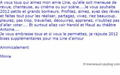 Line Renaud - Mimie Mathy a un message pour vous...