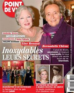 """Line Renaud - En couverture de """"Point de Vue"""""""