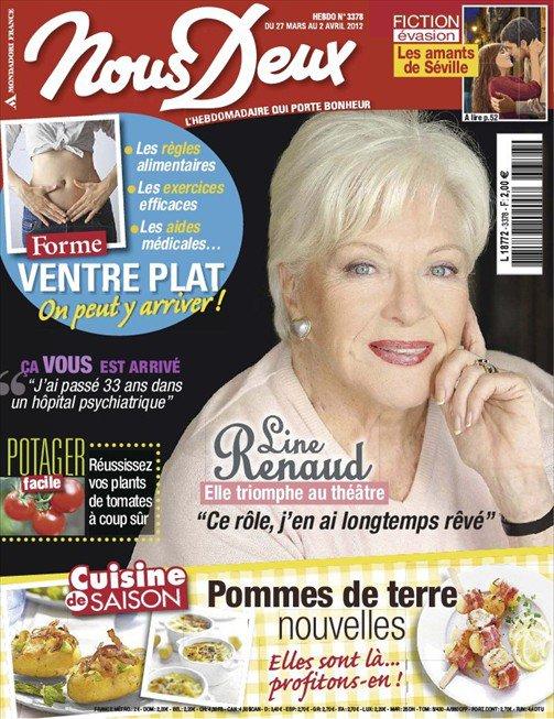 """Line Renaud - En cover de """"Nous Deux"""" semaine du 27 mars au 2 avril 2012"""