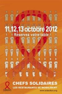 Line Renaud - Sidaction: Opération Chefs Solidaires les 11,12 et 13 octobre 2012